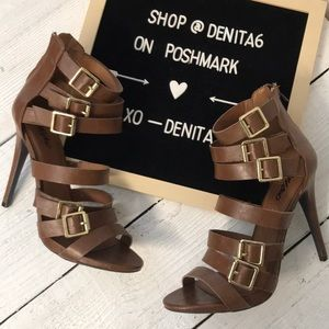 Mossimo Brown Sapphire Strappy Heel Size 9.5